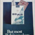 1966 Belair Cigarettes Coupon ad #2