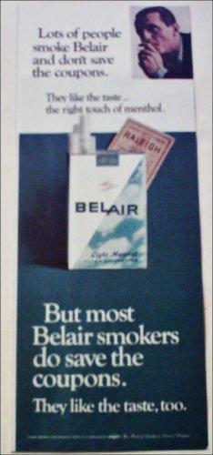 1966 Belair Cigarettes Coupon ad #2
