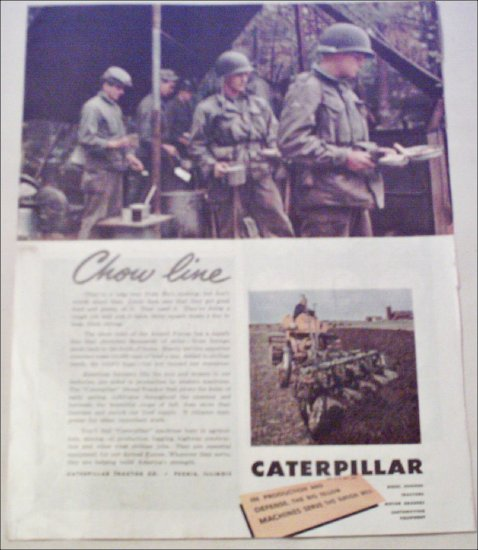 Caterpillar Tractor Company Chow Line ad