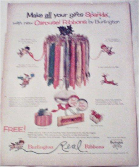 Burlington Carousel Christmas Ribbons ad