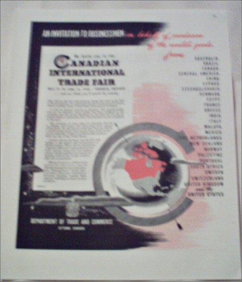 1948 Canadian International Trade Fair ad
