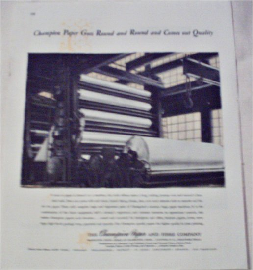 Champion Paper and Fibre Company ad