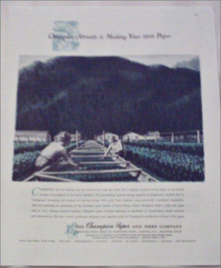 Champion Paper and Fibre Company 1956 Newspaper ad