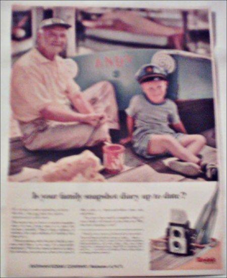 1957 Kodak Brownie Starflex Camera ad