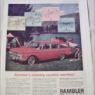 1962 American Motors Rambler Classic 4 dr stationwagon car ad red