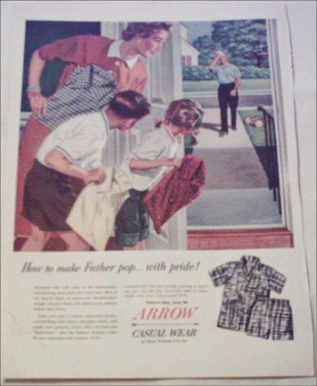 Arrow Sport Shirts Fathers Day ad