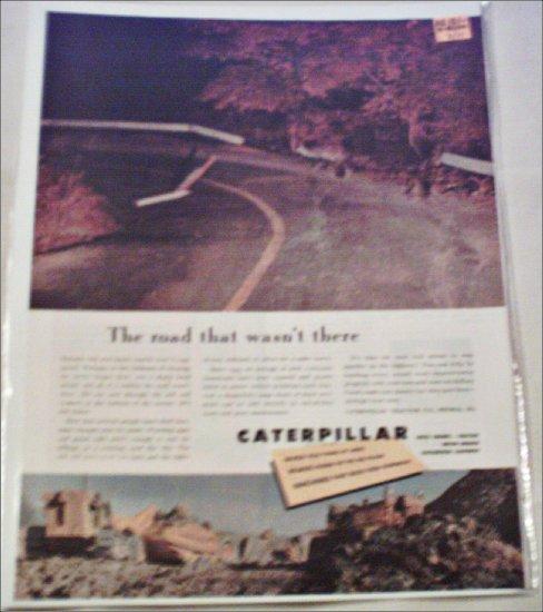 1953 Caterpillar Tractor Company Road ad