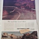 1953 Caterpillar Tractor Company Road ad