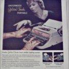 1958 Underwood Golden Touch Portable Typewriter ad