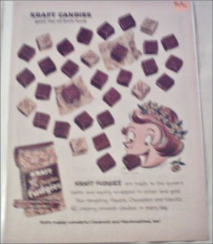 1959 Kraft Chocolate Fudgies ad