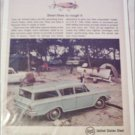 1962 US Steel ad featuring American Motors Rambler 4 dr stationwagon