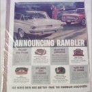 1962 American American Motors Rambler Lineup ad
