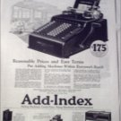 1923 Add-Index Adding Machine ad