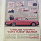 1963 American Motors Rambler Classic 770 4 dr sedan car ad