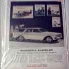 1963 American Motors Rambler Classic Six CC 4 dr stationwagon car ad