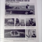 1963 American Motors Rambler Classic Six 4 dr sedan car ad