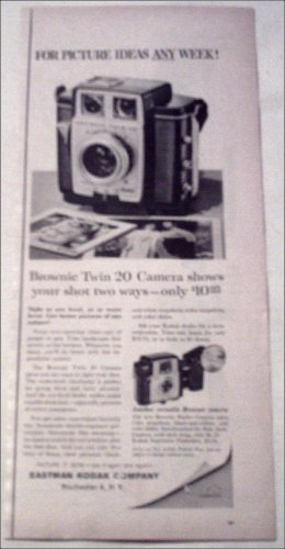 1960 Kodak Brownie Twin 20 Camera ad