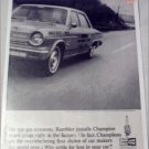 1964 Champion ad featuring American Motors Rambler American 440 4 dr sedan