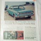 1965 American Motors Rambler American 2 dr ht car ad blue