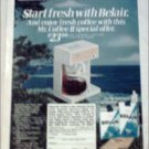1975 Belair & Belair Filter Longs Cigarette Mr Coffee ad