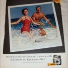 1963 Kodak Kodacolor Film Swimming Couple ad