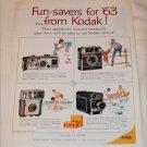 1963 Kodak Funsaver Cameras ad #2