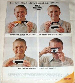 1963 Kodak Instamatic Camera Man ad