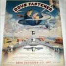 1946 Dzuz Fastener Company ad