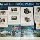 1964 Kodak Cameras New York's Worlds Fair ad