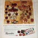 1959 Mars Marsettes Creme & Chocolates ad