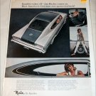 1965 American Motors Rambler Marlin car ad silver & black