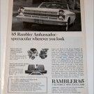 1965 American Motors Rambler Ambassador 990 convertible ad b & w