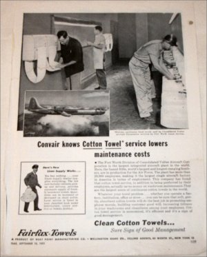 1951 Fairfax Towels ad