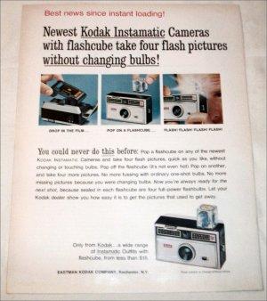 1965 Kodak Instamatic Camera with Flash ad