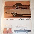 1965 American Motors Rambler Ambassador 990 convertible car ad white