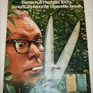1971 Benson & Hedges 100's Cigarette Trimmers ad