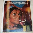 1971 Benson & Hedges 100's Cigarette Balloon ad