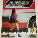 1971 Benson & Hedges 100's Cigarette Bus ad
