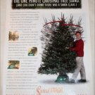 One Minute Swivel Straight Christmas Tree Stand ad