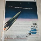 Foote Bros Rocket ad