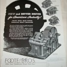 1948 Foote Bros Reduction Gear ad