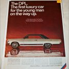 1966 American Motors Ambassador DPL 2 dr ht car ad white & black