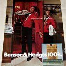 1971 Benson & Hedges 100's Cigarette Waiter ad