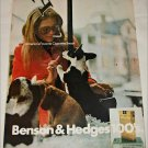 1971 Benson & Hedges 100's Cigarette Puppies ad