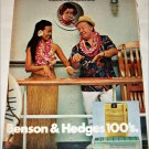 1971 Benson & Hedges 100's Cigarette Cruise ad