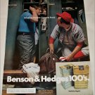 1972 Benson & Hedges 100's Cigarette Lockeroom ad