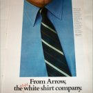 1968 Arrow Madison Avenue Collar Shirt ad blue