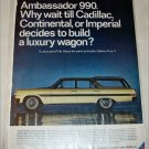 1966 American Motors Ambassador 990 4 dr stationwagon car ad