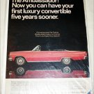 1966 American Motors Ambassador 990 convertible car ad red