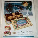 1957 Page & Shaw Par Excellence Chocolates Christmas ad